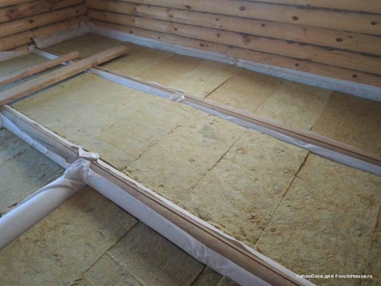 Как правильно утеплить пол в бане: пошаговая инструкция и способы утепления