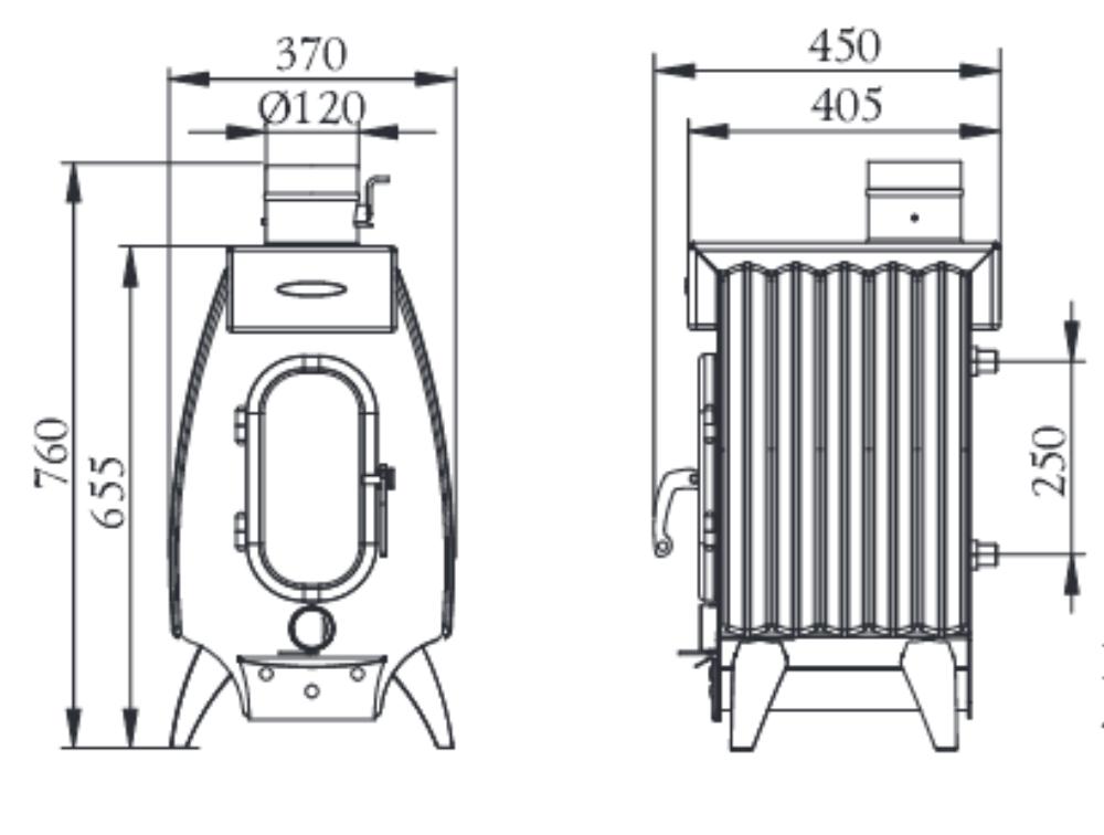 Дровяная печь огонь батарея от термофор