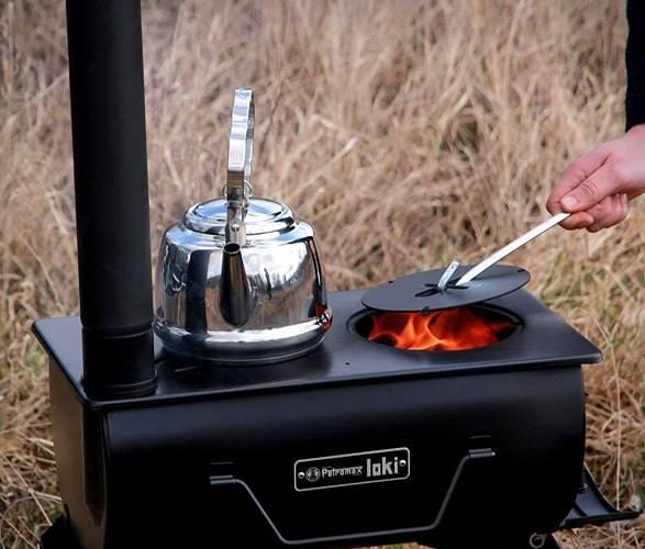 Походная печь: туристическая печка своими руками, мини печь на дровах для похода на природу из металла