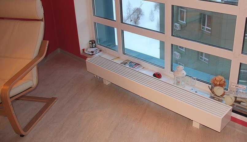 Низкие радиаторы отопления для панорамных окон: какие бывают батареи под панорамные окна, батареи под витражное окно