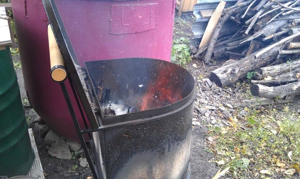 Печь для сжигания мусора: зачем и как сделать своими руками