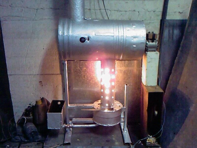 Изготовление печки на отработке из газового баллона