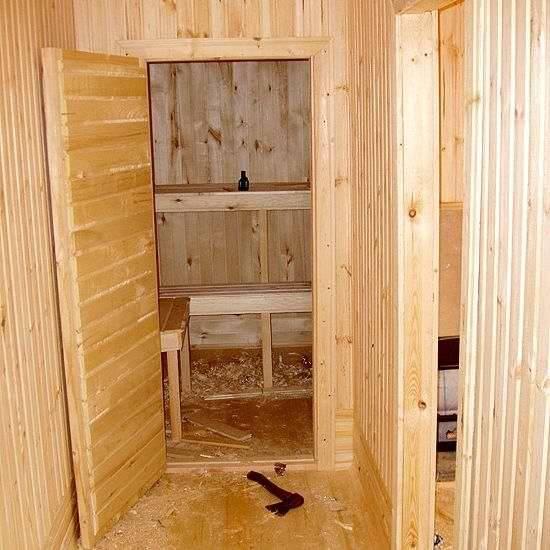 Как и чем утеплить дверь в баню