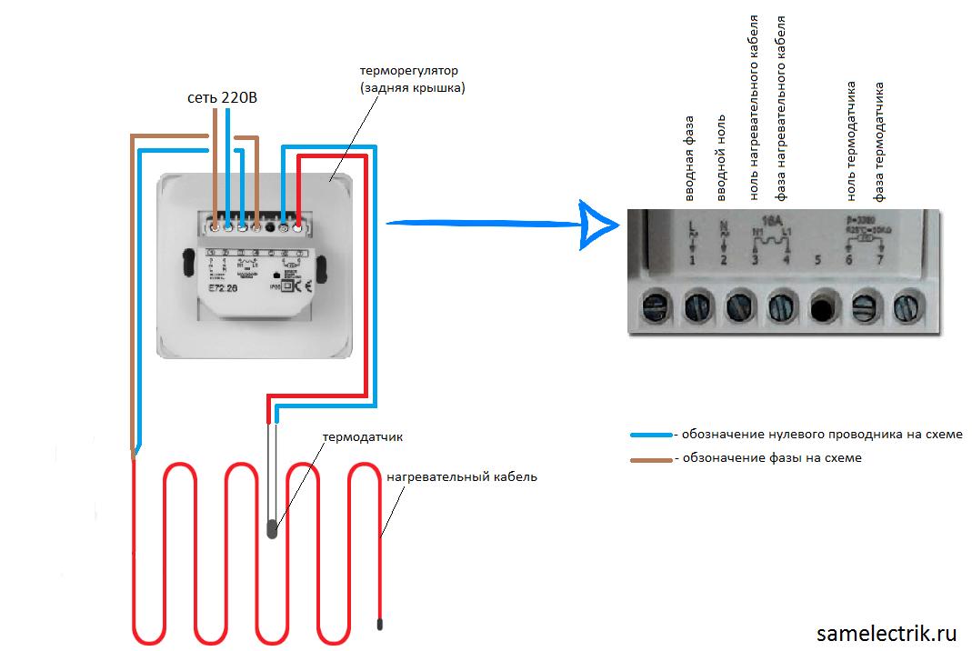 Подключение теплого пола к терморегулятору: особенности выполнения монтажных работ
