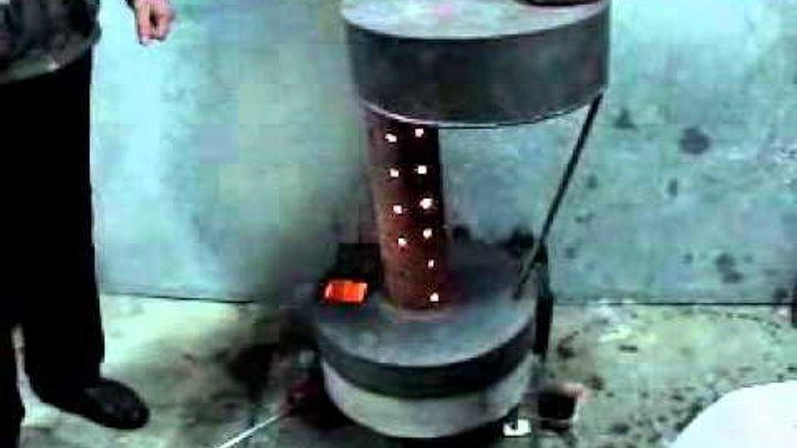 Как изготовить по чертежам печь на отработке своими руками, конструкция из газового баллона