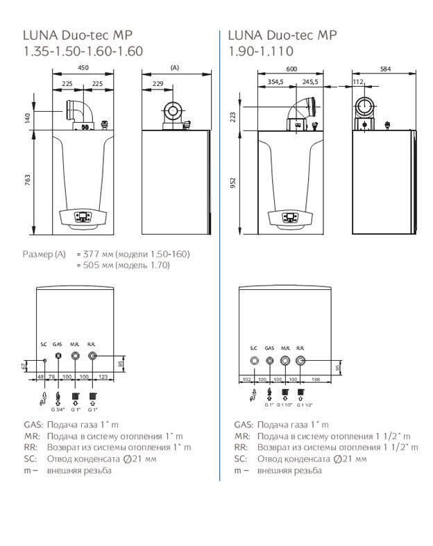 Настенный газовый котел baxi: одноконтурная отопительная модель main и варианты с закрытой камерой сгорания