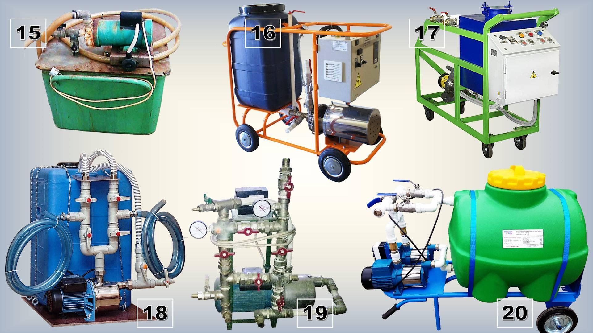 Оборудование для промывки систем отопления от загрязнений различного характера