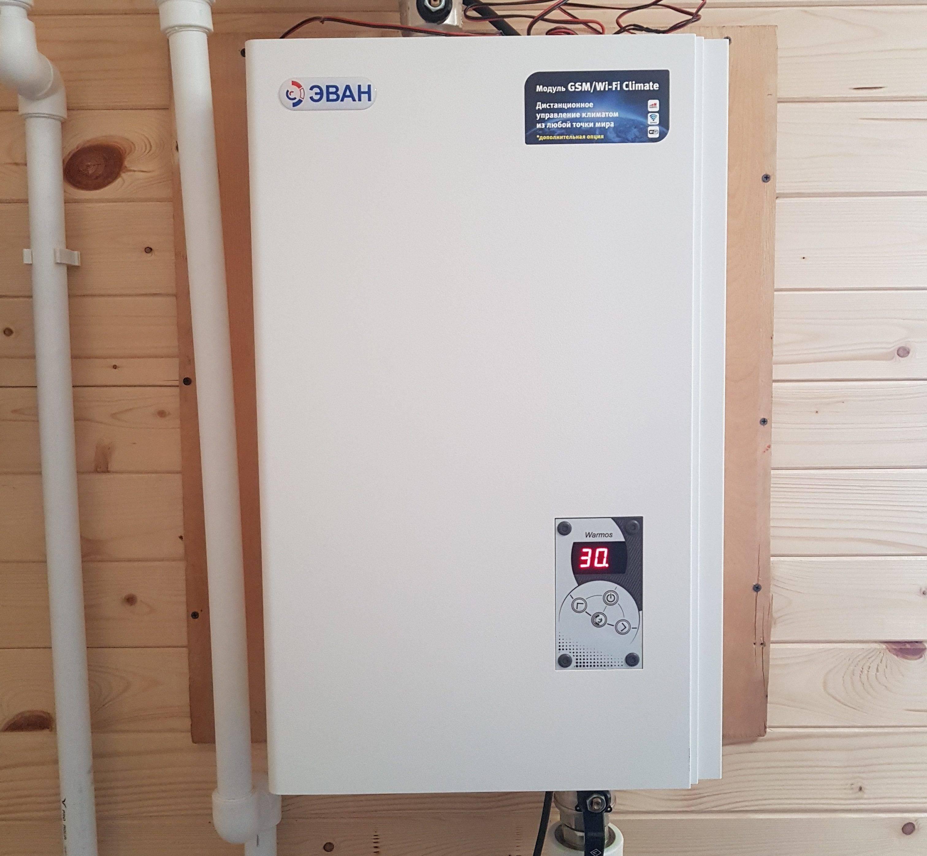 Электроотопительные котлы для дома эван - технические характеристики