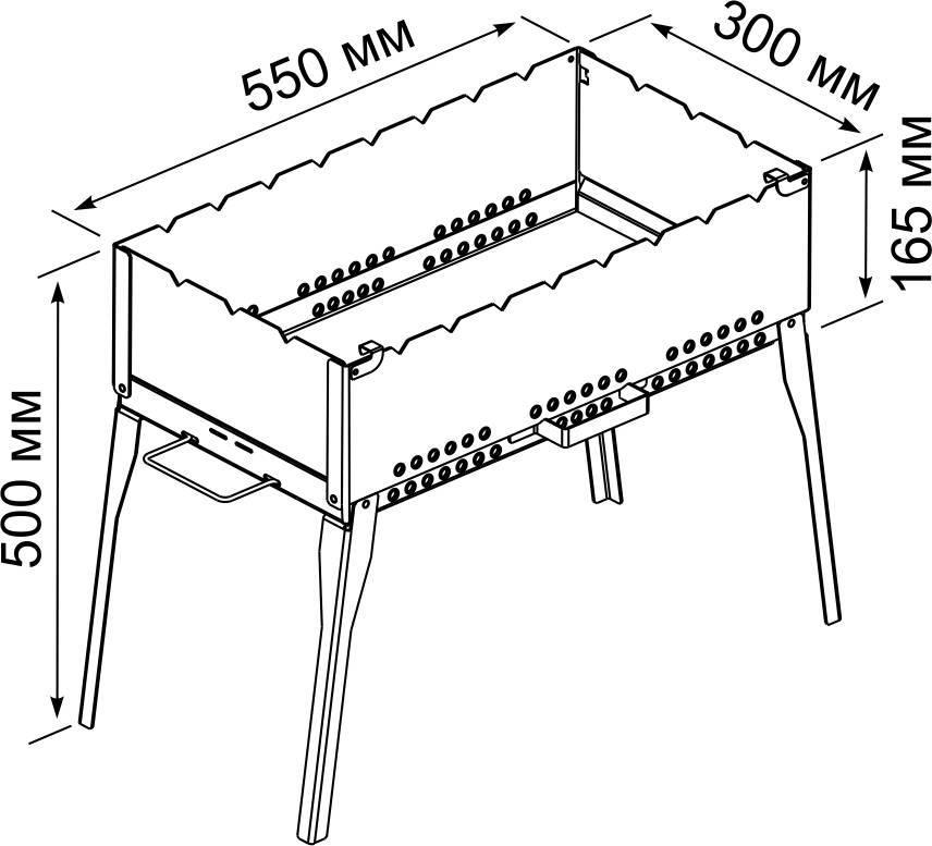 Мангалы своими руками из металла размеры, фото, чертежи, с крышей