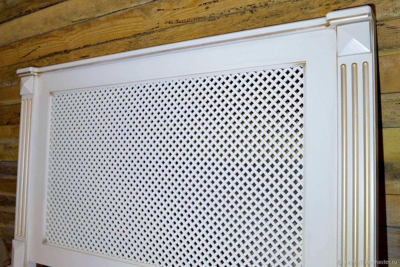 Декоративные решетки на радиаторы отопления: дерево, мдф, хдф, изготовление своими руками