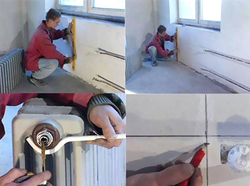 Монтаж радиатора отопления своими руками