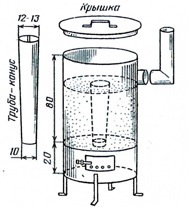Печь на опилках: 135 фото создания основы системы отопления своими руками