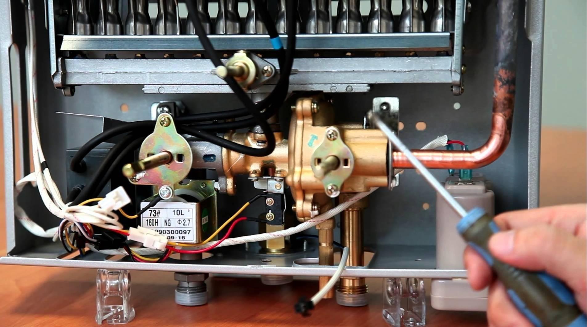 Устройство газовых колонок Вектор — популярные модели