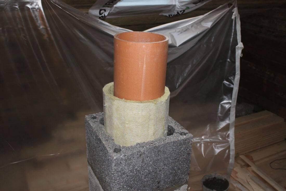 Базальтовая вата для дымохода, лучший негорючий утеплитель