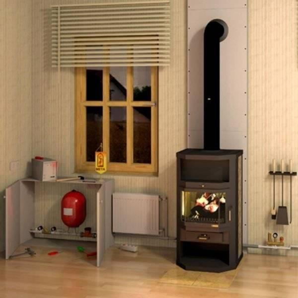 Печи для отопления дома с водяным отоплением, особенности устройства и монтажа