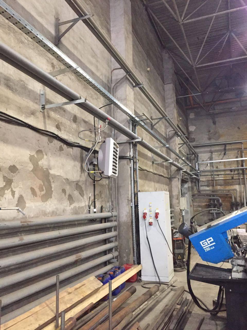 Водяное отопление цеха - система отопления