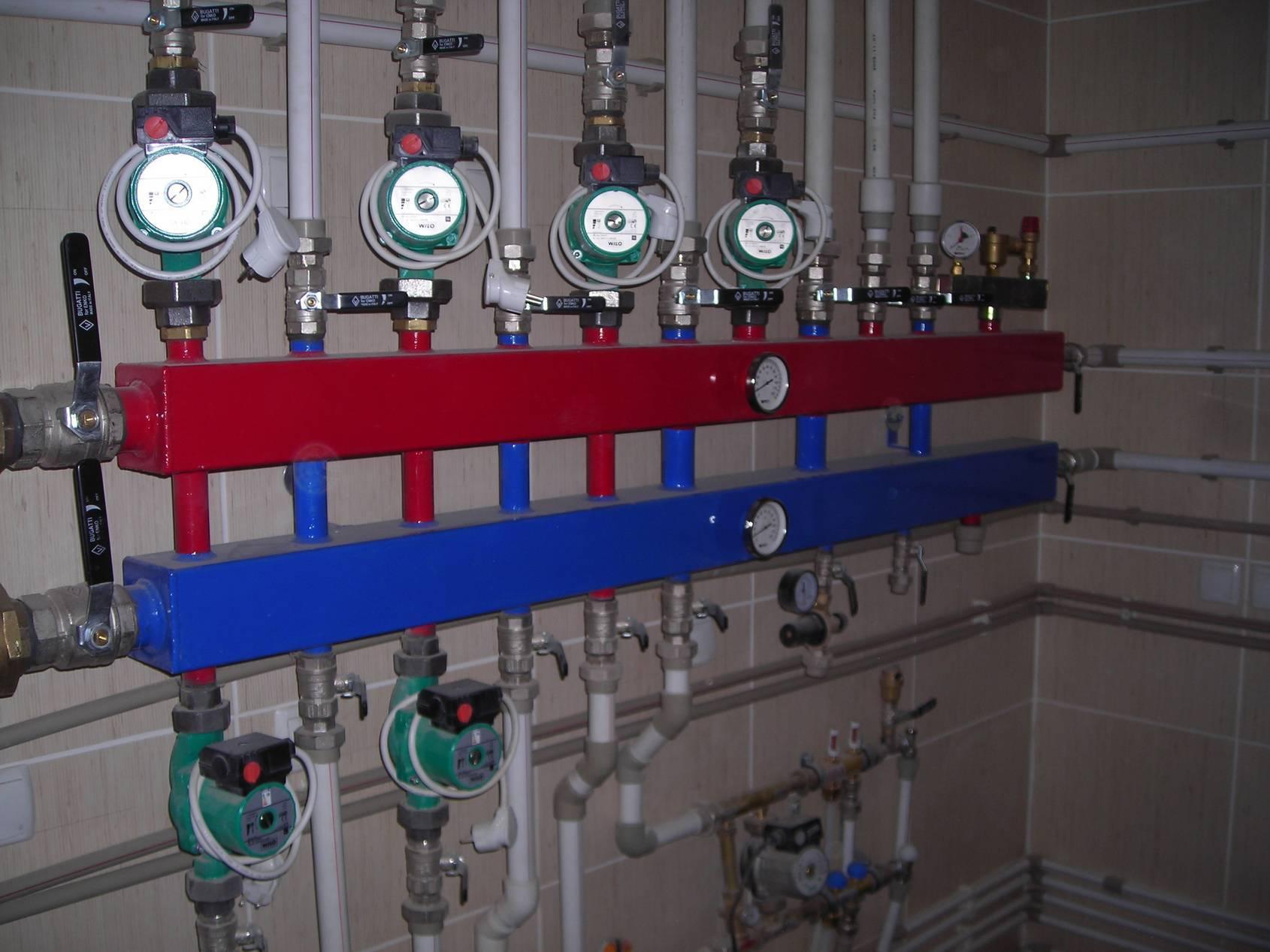 Распределительный коллектор отопления своими руками: схемы и особенности сборки