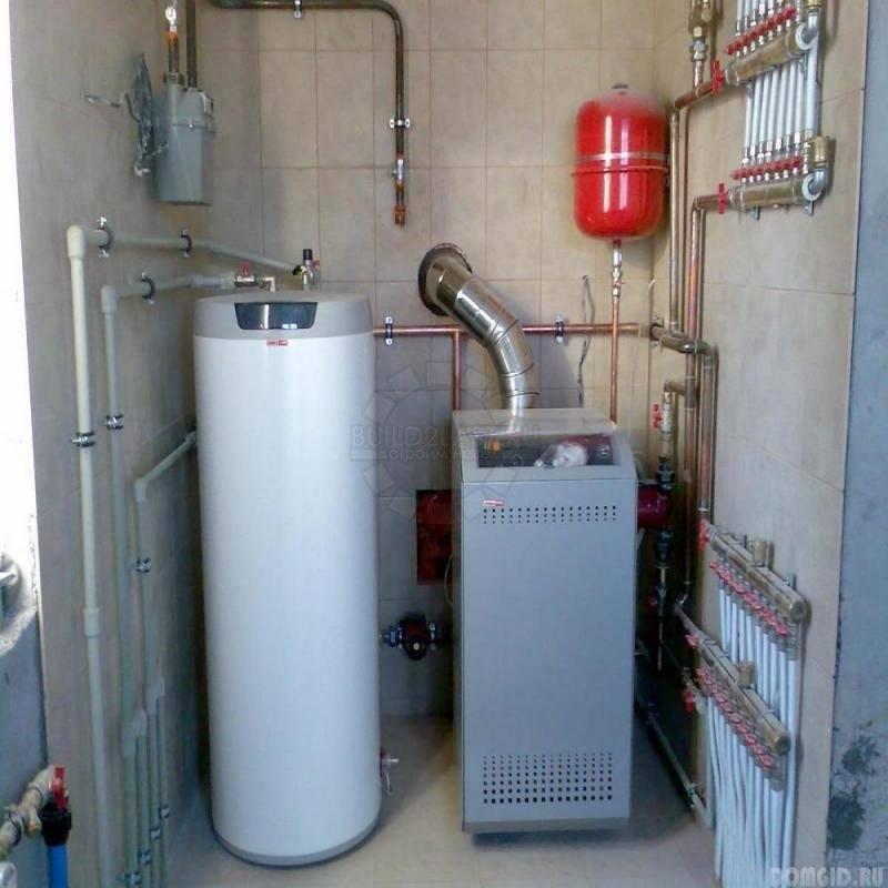 Котел газовый и твердотопливный в одном: подключение двух котлов в одну систему отопления, схема с двумя котлами, как подключить дополнительный котел