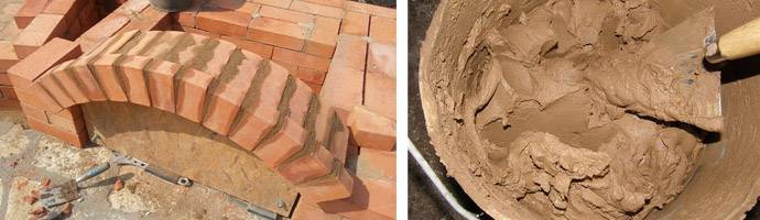 Пропорции глиняного раствора для кладки печей: состав, правила выбора глины