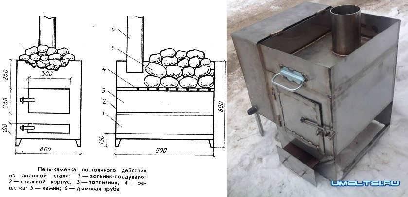 Самодельные печи для бани - изготовление по размерам