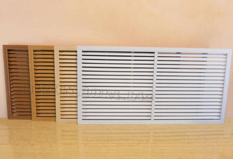 Решетка на батарею отопления: типы материала