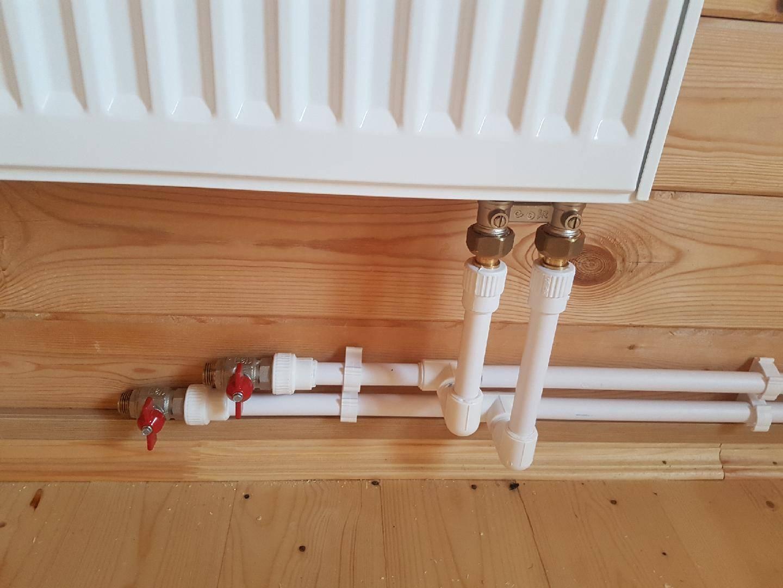 Подключение радиатора отопления к полипропиленовым трубам –