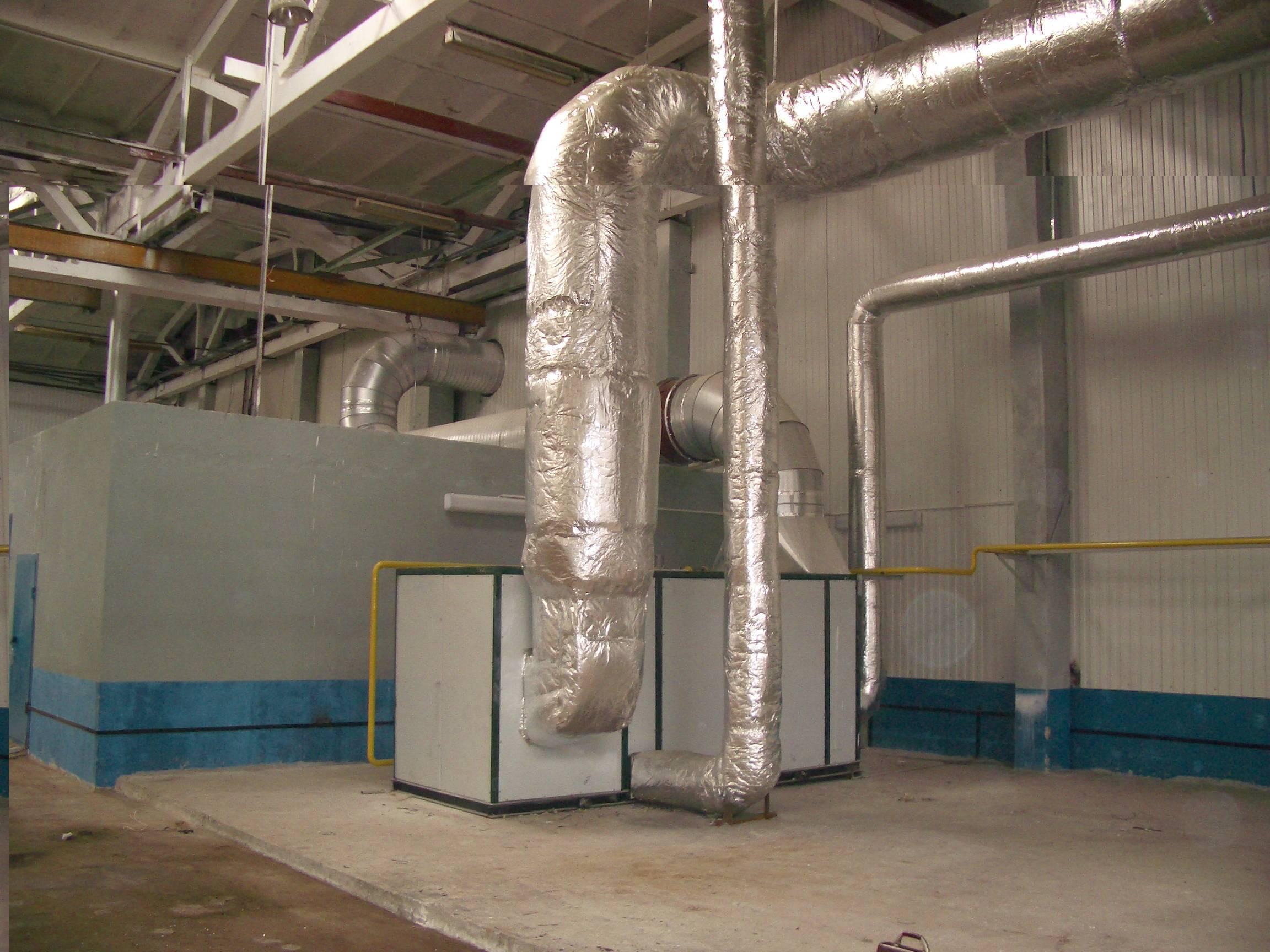 Воздушное отопление производственного или промышленного помещения