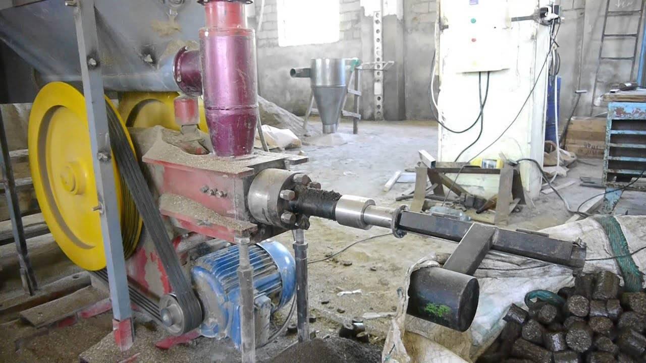 Пресс для изготовления топливных брикетов из опилок своими руками, прочее оборудование для брикетирования опилок