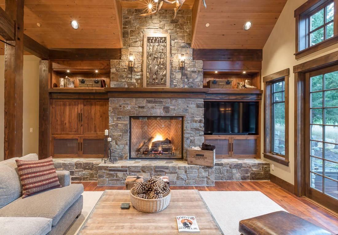 Интерьер гостиной в загородном доме: стильные и удобные решения
