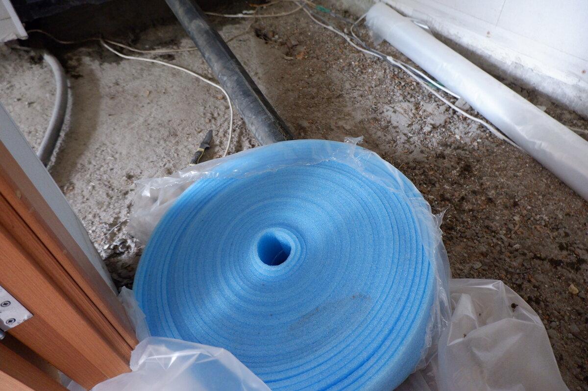 Применение демпферной ленты для стяжки