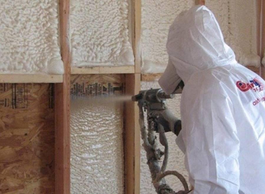 Напыляемый утеплитель: пенная теплоизоляция в баллонах, изоляция распылением teplis и ппу, негорючий распыляемый материал для стен