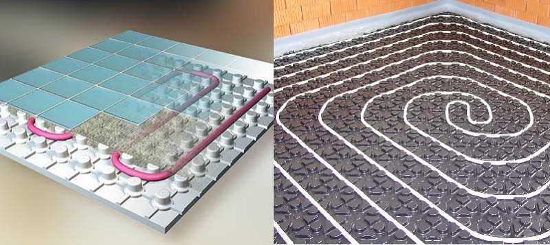 Теплый пол: устройство системы в частном доме, толщина слоев пирога конструкции по технологии, а также, что нужно из оборудования для самодельного подогрева