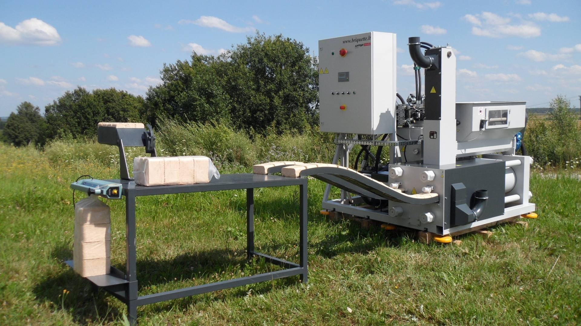 Принцип работы станка для изготовления брикетов из опилок