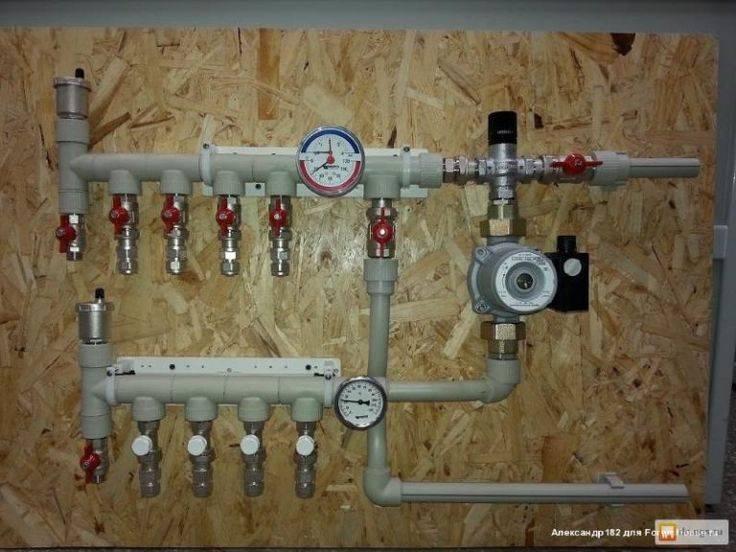 Коллекторы для отопления - монтаж, расчет и установка своими руками