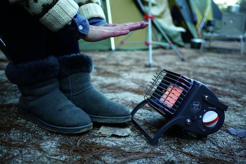 Портативный инфракрасный газовый обогреватель для палатки