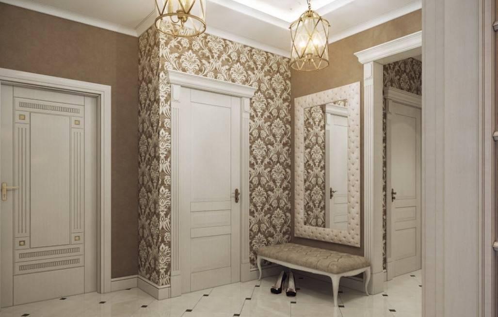 Комбинированные обои в коридоре — реальные варианты дизайна в квартирах
