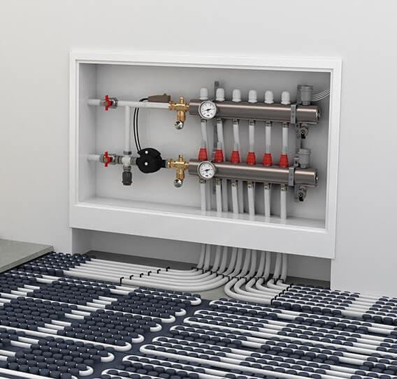 Электро-водяной теплый пол: виды, характеристики, цены и монтаж