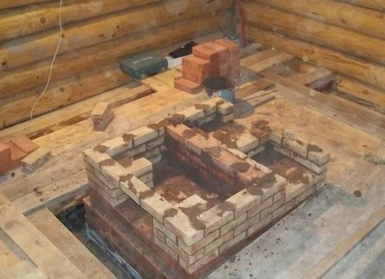 Фундамент под камин в деревянном доме - строитель