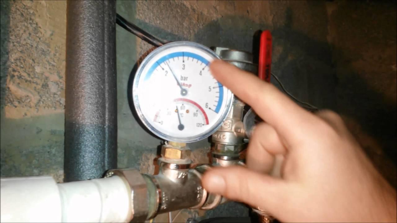 Показатели давления в системе отопления