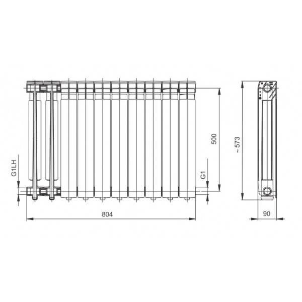 Размеры радиаторов отопления по высоте, узкие секции, как рассчитать батареи, детали на фото и видео
