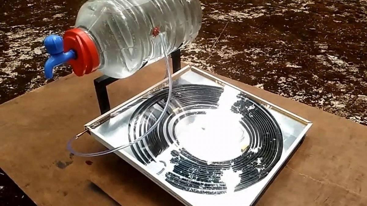 Как дешево самому сделать солнечный водонагреватель для дачи
