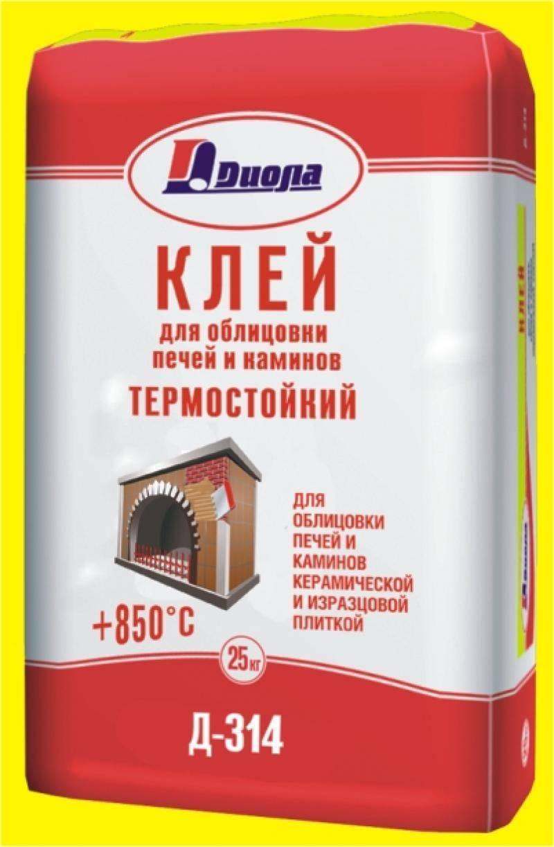 Термостойкий плиточный клей для печей и каминов плитонит суперкамин термоклей (вт), жаростойкий клей для плитки