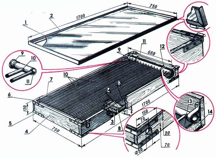 Солнечный водонагреватель для дачи: инструкция +видео