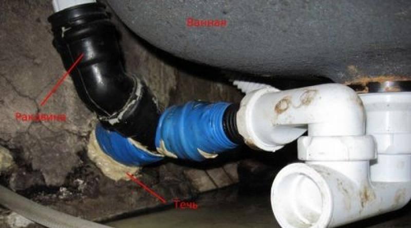 Как устранить течь трубы отопления, если она протекает