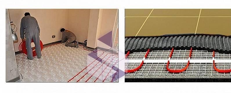Монтаж теплого пола теплолюкс - греющих секций и нагревательных матов. установка теплого пола теплолюкс любой площади