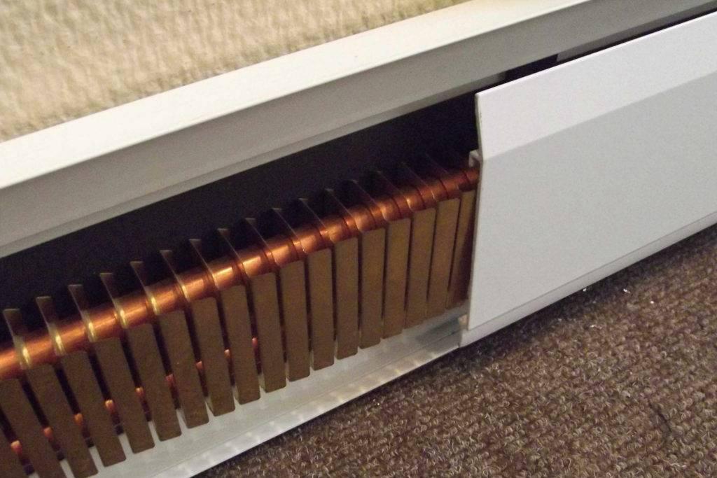 Система отопления теплый плинтус
