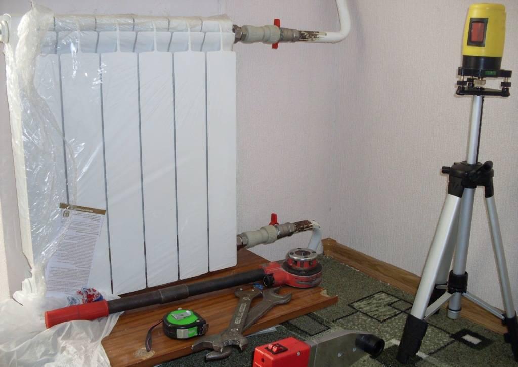 Замена радиаторов отопления в квартире. схемы подключения   технологии комфорта