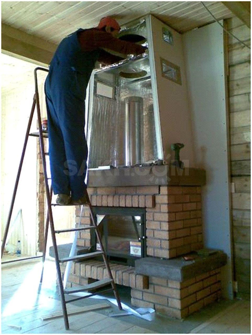 Как сделать камин или печь в каркасном доме своими руками для отопления: что выбрать? +видео