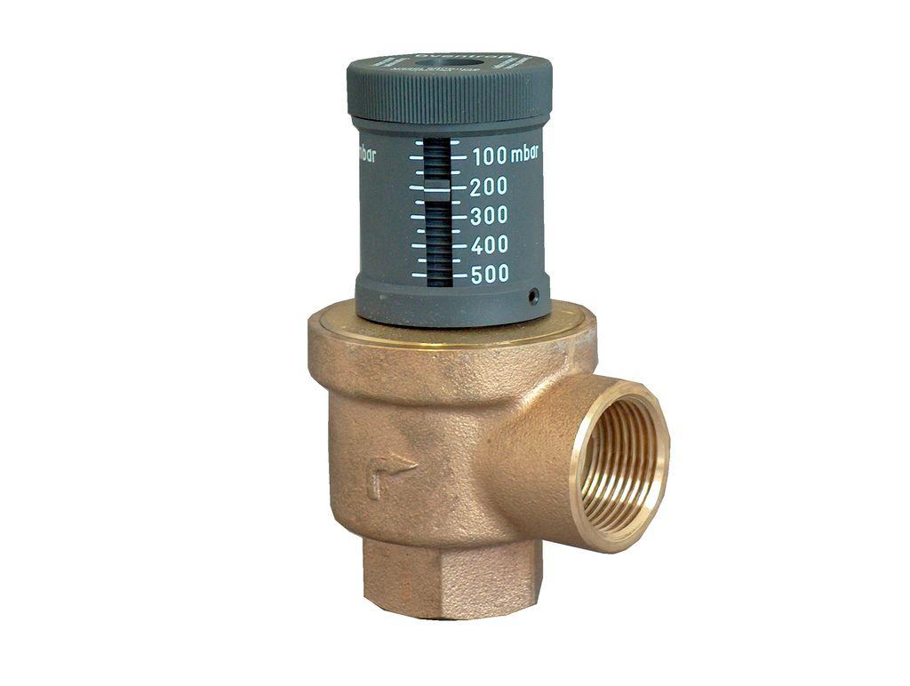 Предохранительный клапан с регулировкой давления для котла в системе отопления
