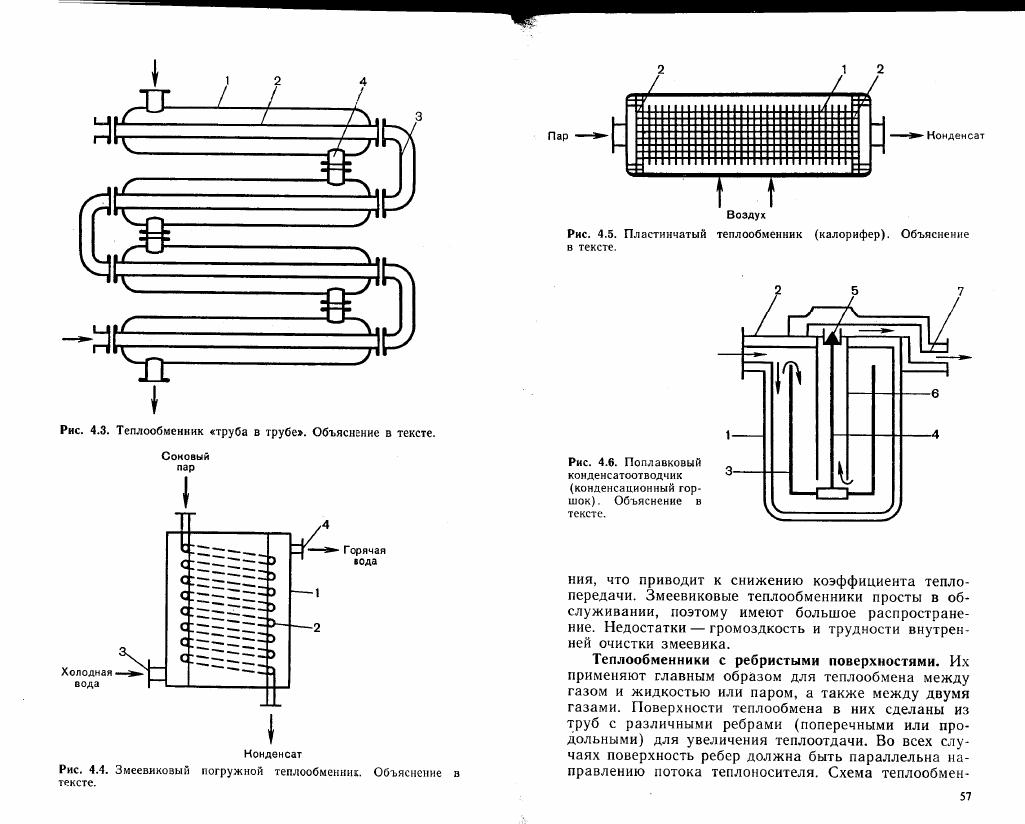 57 теплообменные аппараты. уравнения теплового баланса и теплопередачи; средняя разность температур между теплоносителями. расчет прямоточных и противоточных теплообменников.